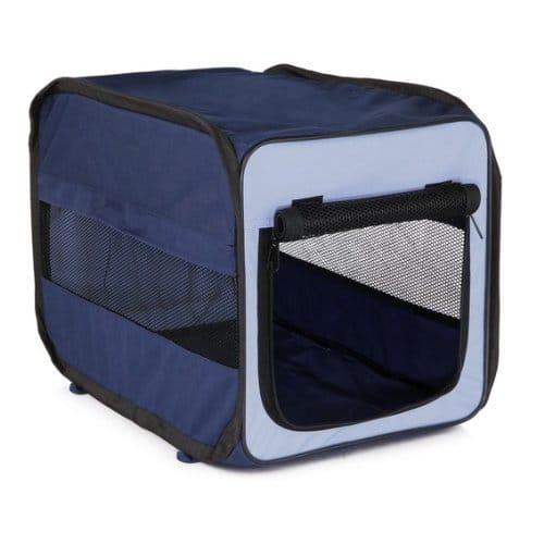 trixie hundebox faltbar in blau hundegitter. Black Bedroom Furniture Sets. Home Design Ideas
